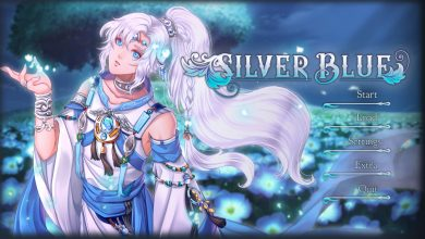 silver blue title screen